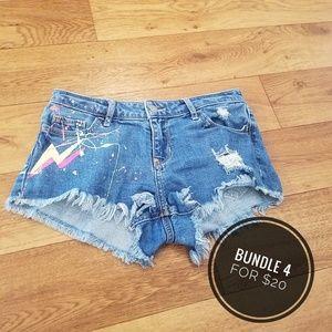 👻Hollister Paint Splatered Shorts, Juniors 0👻